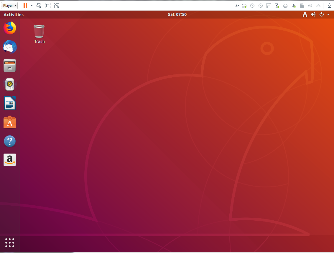 Ubuntu Beaver Desktop in VMware Player