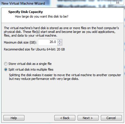 Vmware Player Install Ubuntu Disk Space